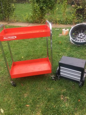 Blue point tool cart and set min box for Sale in Cicero, IL