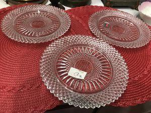 Vintage fostoria crystal plate $10 each for Sale in San Diego, CA