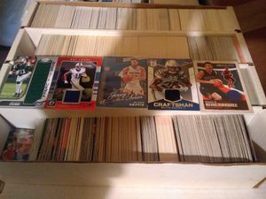 1000's of SPORTS CARDS STARS W/ (6) JERSEY CARDS AS WELL! for Sale in Racine, WI
