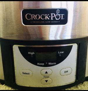 Crock-Pot SCCPVI600-S 6-Quart Programmable Slow Cooker, Stainless Steel for Sale in Fountain Valley, CA