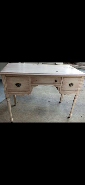 Vintage desk - refinished (blush color) for Sale in Hillsboro, OR