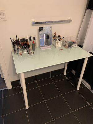 White Glass Desk for Sale in Washington, DC
