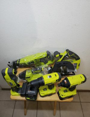 RYOBI 18-Volt ONE+ Lithium-Ion Cordless 6-Tool Combo Kit with (2) Batteries, Charger, and Bag for Sale in Phoenix, AZ