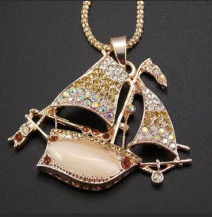 Betsey Johnson sailboat pendant necklace for Sale in Clermont, FL