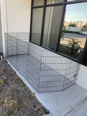 New in box 42 inch tall x 24 inches wide each panel x 8 panels steel wire exercise playpen 16 feet long fence safety gate dog cage crate kennel expan for Sale in Whittier, CA