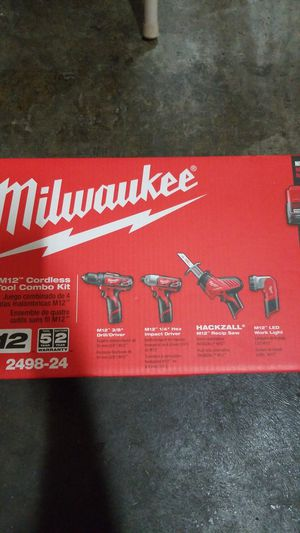 Milwaukee M12 cordless 4 tool combo kit for Sale in Sacramento, CA