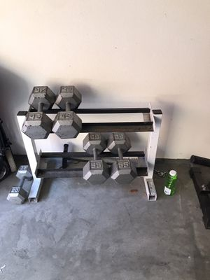 Dumbbells 40 each or 75 as a set for Sale in Chula Vista, CA