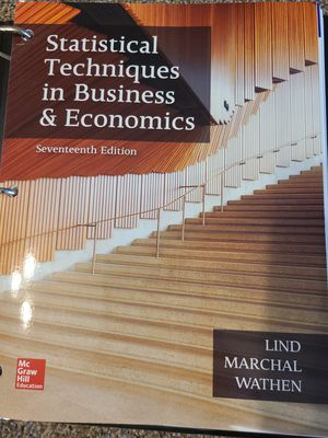 Statistical techniques in Business & Economics 17e for Sale in Glendale, AZ