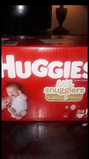 Newborn huggies brand new 84 count for Sale in San Antonio, TX