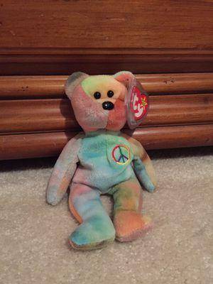 "Ty Beanie Babies Rare ""Peace"" Bear Retired PVC Pellets 1996 for Sale in Wichita, KS"