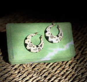 Green and washed white earrings. for Sale in San Diego, CA