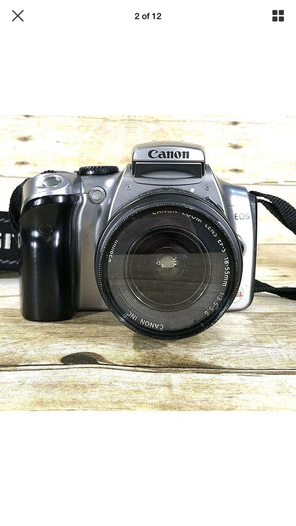 Canon Digital Rebel EOS DSLR Camera DS6041 w/ 18-55mm EF-S Lens Strap & Battery