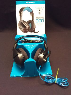 Turtle Beach - Stealth 300 Wired Amplified Stereo Gaming Headset for PlayStation 4 - Black/Blue for Sale in Dallas, TX