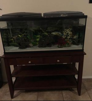 Fish tank & stand for Sale in Las Vegas, NV