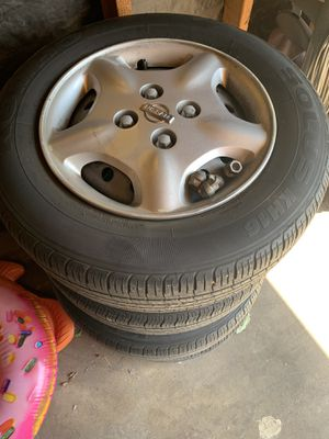 "Set of 15""tires 4lugs for Sale in Chino Hills, CA"