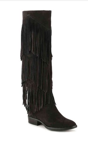 Sam Elderman Black Suede Boots w/ Fringes for Sale in Fort Washington, MD