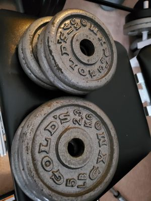 Gold's Gym Dumbbell set for Sale in Burke, VA
