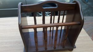 Vintage solid wood magazine rack for Sale in Federal Way, WA