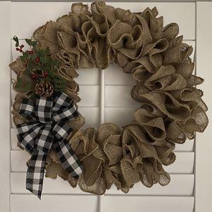 Handmade Burlap Wreath for Sale in Miami, FL