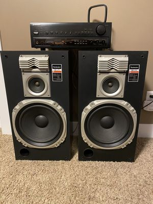 Technics speakers with reciever for Sale in Hudsonville, MI