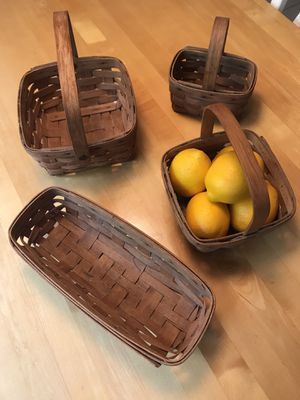 Longaberger Baskets - Set of 7 for Sale in Howell Township, NJ