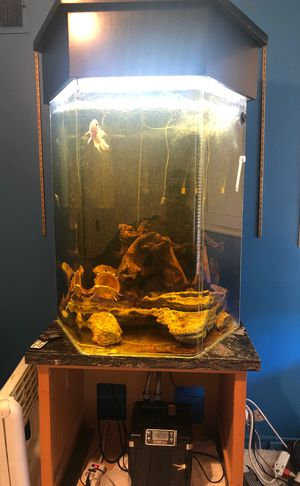100 Gallon Acrylic Aquarium with accessories and marble table for Sale in San Leandro, CA