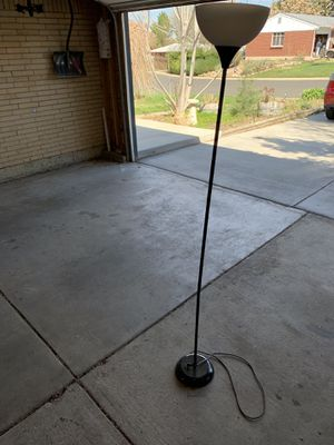 Black Floor Lamp - Stands 6 Feet Tall - Disperses Light Well for Sale in Denver, CO