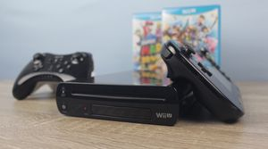 Nintendo Wii U Black with Gamepad, Super Smash Bros, Super Mario 3D World, 2 Pro Controllers, and More! for Sale in Atlanta, GA