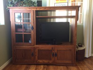 Mission style entertainment center for Sale in Chula Vista, CA