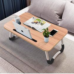 """Lap Desk with Storage Drawer, Phone and Cup Holder, Laptop Bed Tray Table, 23.6"""" Foldable Laptop Desk, Laptop Stand for Working, Writing, Gaming and D for Sale in Whittier,  CA"""