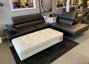 Sleek black sectional $54 down delivers! Ask for james! for Sale in Tukwila, WA