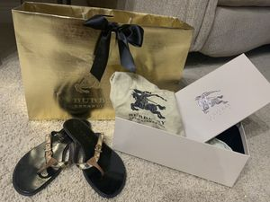 Authentic BURBERRY Sandle - Size: 6.5/7 (Gently Used) for Sale in Tampa, FL