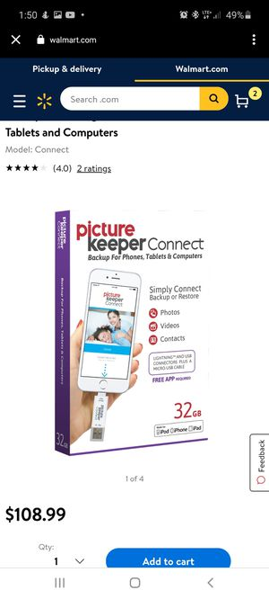 Picture Keeper CONNECT 16GB Portable Flash USB Backup and Storage Device Drive for Mobile Phones Tablets and Computers for Sale in Philadelphia, PA