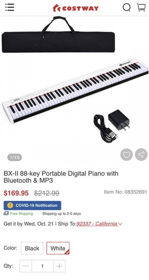 Keyboard 88 key portable digital piano(black see last pic) for Sale in Buena Park, CA