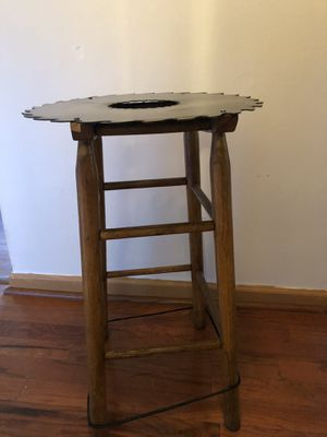Repurposed antique saw blade table for Sale in Athens, GA
