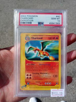 Pokemon Charizard Expedition Rare (Non Holo) Psa Graded 10 Gem Mint Very Rare for Sale in Pomona, CA