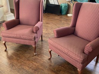 Pair Classic Mauve Armchairs for Sale in Pasadena,  CA
