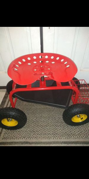 Garden Seat work bottom storage ALL TERRAIN AIR TIRES TRACTOR SEAT for Sale in Bloomington, CA