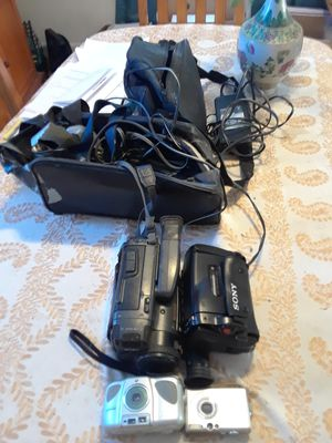 2 Camcorders 2 Digital Cameras for Sale in Woburn, MA