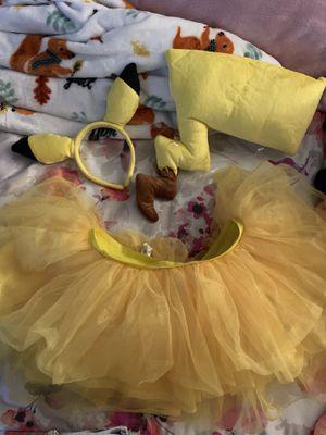 Pokémon Pikachu costume w/ tutu for Sale in Virginia Beach, VA