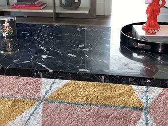 Solid marble coffee table with metal hairpin rose gold legs for Sale in Los Angeles,  CA