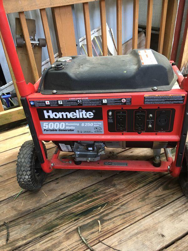 Home lite 5000 portable generator