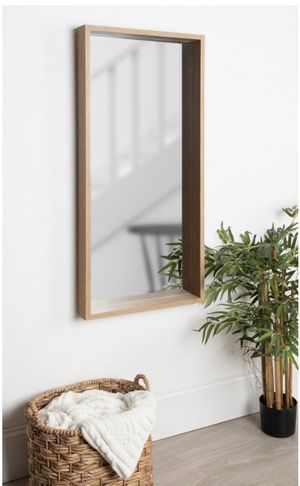 Kate and Laurel Rockwood Rectangle Natural Wall Mirror for Sale in Dallas, TX