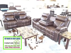 Reclining sofa and loveseat $1200 sale today for Sale in Dallas, TX