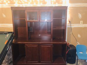 2 piece Solid wood office cabinet and hutch!! for Sale in Fairfax Station, VA
