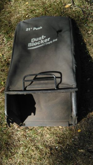 "Craftsman dustbuster black 21"" rear replacement lawn mower bag grass catcher part with one hole for Sale in Arlington, MA"