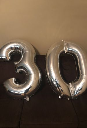 Silver Number 30 Balloons!! for Sale in Jonesboro, GA