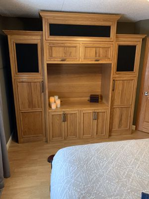 Home entertainment center. 100% solid ash for Sale in Brooklyn Center, MN