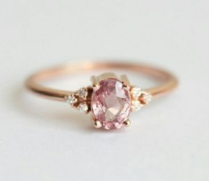 Rose Gold Filled 925 Sterling Silver Pink Sapphire Ring for Sale in Wichita, KS