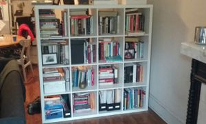 IKEA white 5' x5' bookcase for Sale in Queens, NY